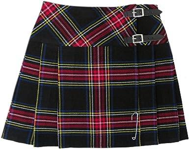 Falda de tartanista escocesa de 16, 5 cm para mujer: Amazon.es ...