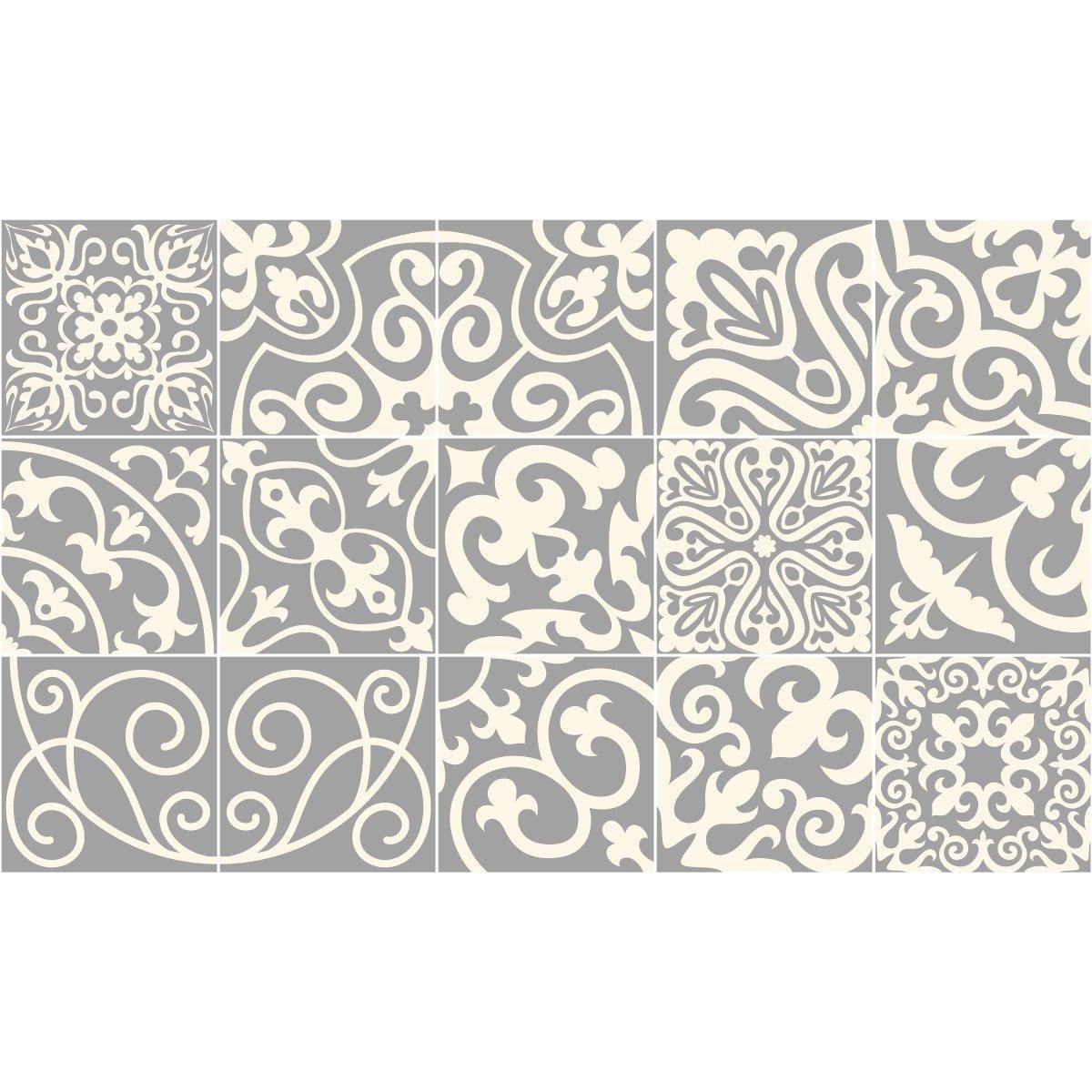 Stickers adh/ésifs carrelages Ambiance-Sticker Set de 15 pi/èces 10 x 10 cm