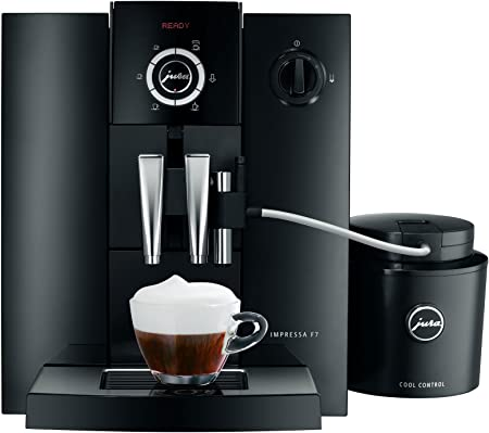 Jura IMPRESSA F7 Independiente Totalmente automática Máquina Espresso 1.9L Negro - Cafetera (Independiente, Máquina Espresso, Negro, Botones, Giratorio, 1,9 L, Granos de café): Amazon.es: Hogar