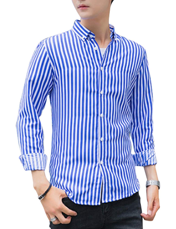 Jueshanzj Mens Lapel Long Sleeve Shirt