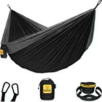 Wise Owl Outfitters Camping Hammocks - Portable Hammock for Outdoor, Indoor, Single & Double Use w/ Tree Straps…