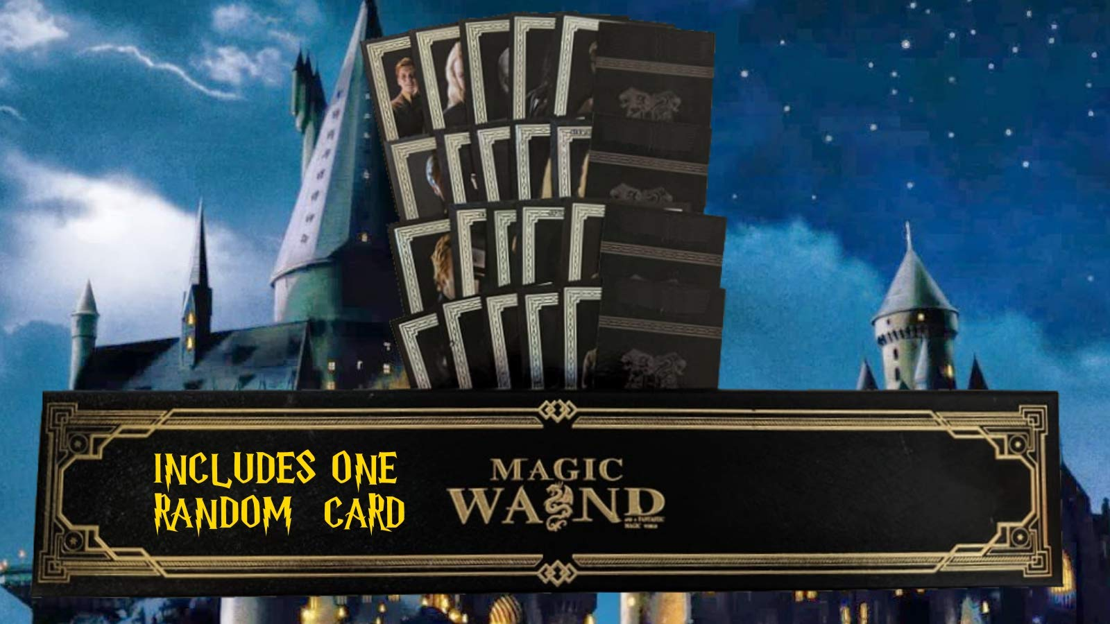 Cultured Customs Magical Wand Replicas - Steel Core Cosplay Prop Collectible + Free Bonus Collectible Trading Card (Ron)