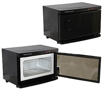 Amazon.com: Black High Capacity Hot Towel Cabinet & UV Sterilizer ...