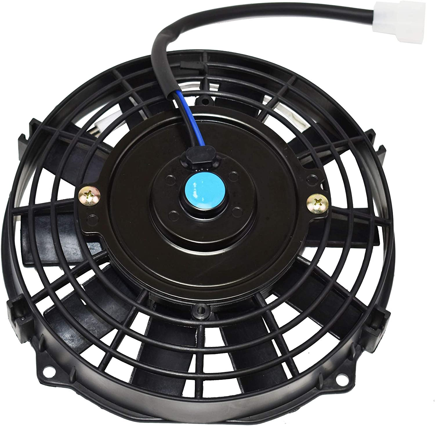 A-Team Performance 120021 Electric Radiator Fan 8inch High Performance Cooling Fan 1700 CFM 12V Reversible 10 Blades Black