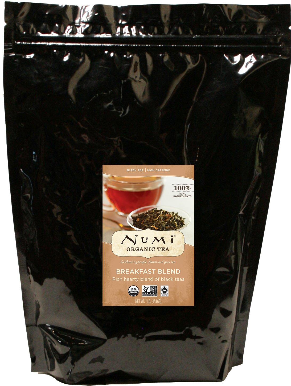 Numi Organic Tea Breakfast Blend, 16 Ounce Pouch, Loose Leaf Black Tea (Packaging May Vary)
