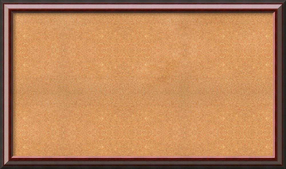 Framed Natural Cork Board Bulletin Board | Natural Cork Boards Cambridge Mahogany Frame | Framed Bulletin Boards | 58.50 x 34.50'' by Amanti Art