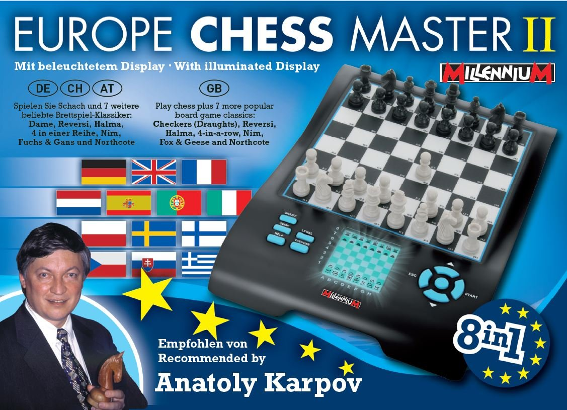 Europe Chess Master 8-in-1 Schachcomputer Spiele