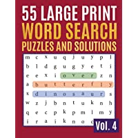 55 Large Print Word Search Puzzles And Solutions: Activity Book for Adults and kids Word Search Puzzle: Wordsearch…