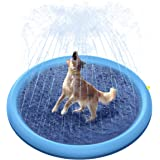 Peteast Splash Sprinkler Pad for Dogs Kids, Dog Bath Pool Thickened Durable Bathing Tub Pet Summer Outdoor Water Toys,XL/XXL