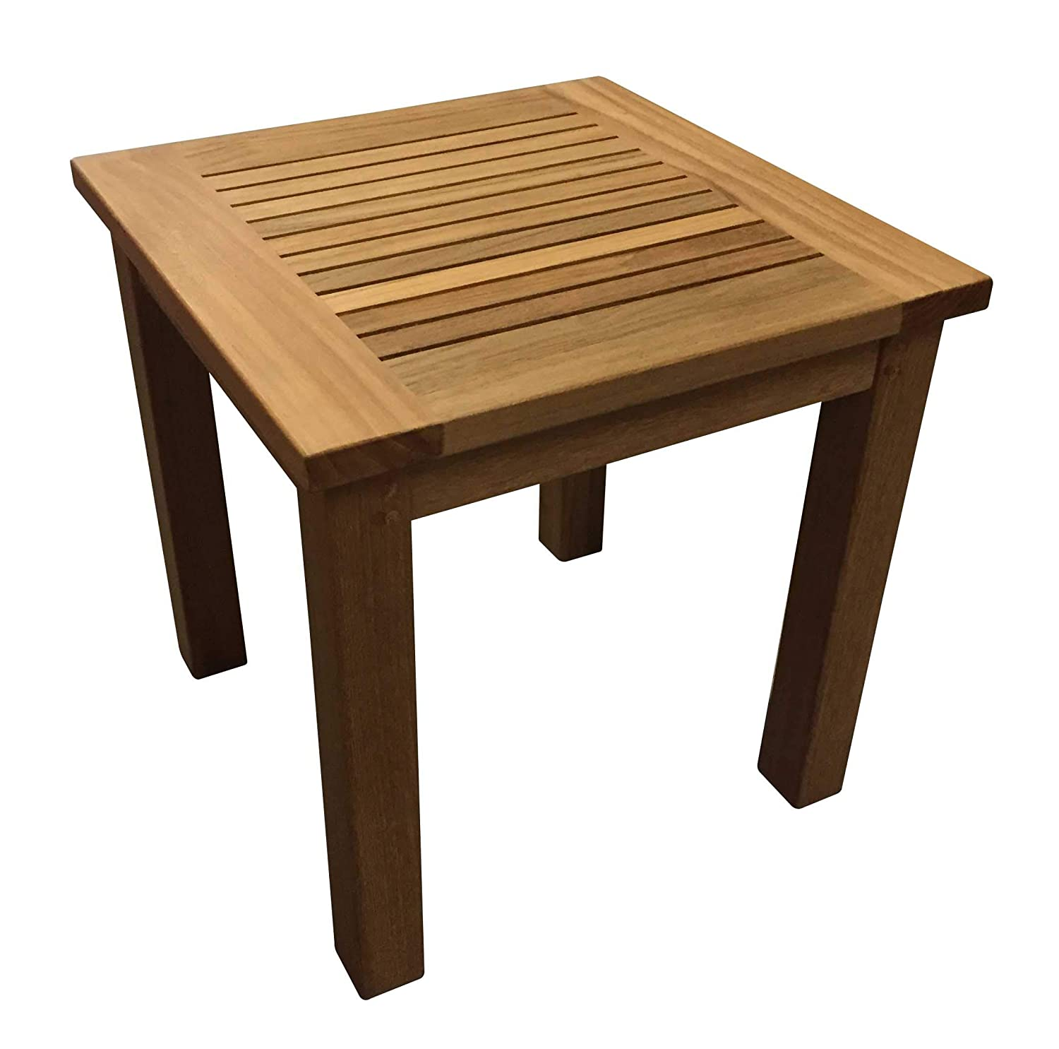 Amazon Com Atlanta Teak Furniture Teak Side Table 17 Square
