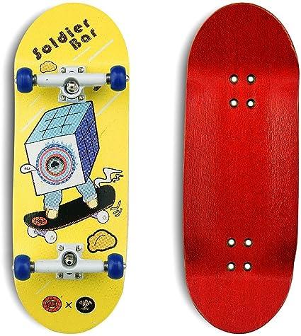 SOLDIER BAR 10.0 Fingerboards 5 Layer Canadian Maple 35mmx 98mm Deck Finger Skateboards +34mm Truck+Globular Wheels Colour Bar