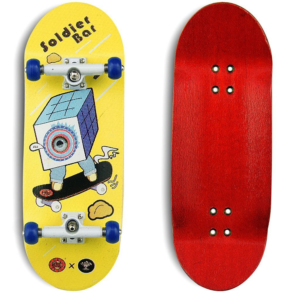 SOLDIER BAR Soldierbar 9.0 Maple Wooden Fingerboards (Deck,Truck,Wheel a Set) Magic Cube by SOLDIER BAR