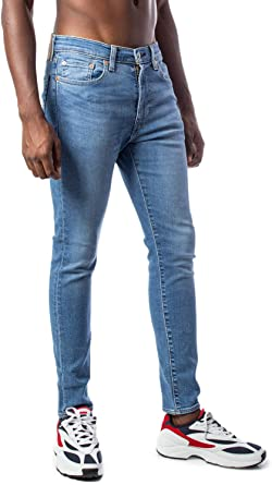 Levi S Men S 519 Extreme Skinny Fit Jeans Blue Amazon Co Uk Clothing