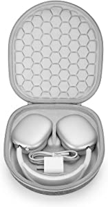 Smart Case for New Apple AirPods Max Supports Sleep Mode , Hard Organizer Portable Carry Travel Cover Storage Bag (Grey)
