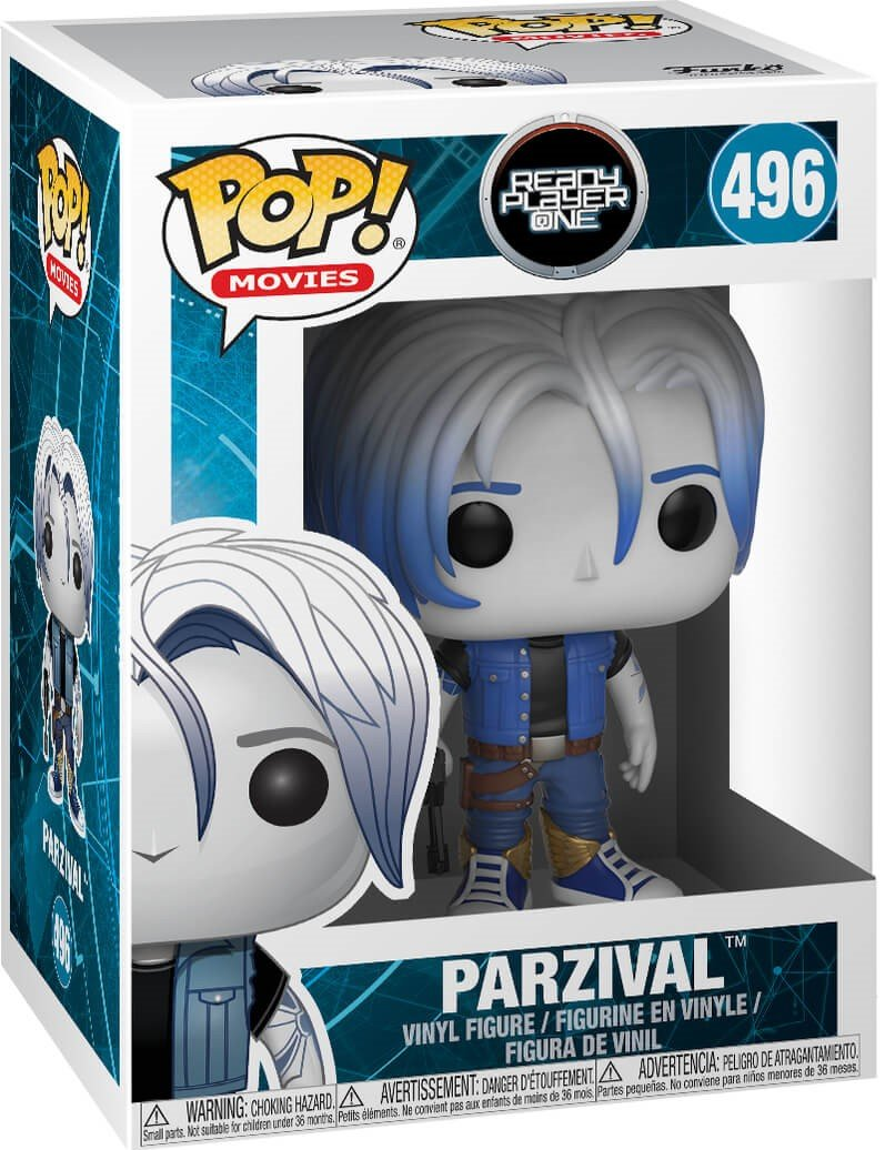 Parzival Vinyl Figure Movies: Ready Player One Funko Pop Bundled with Pop Box Protector Case