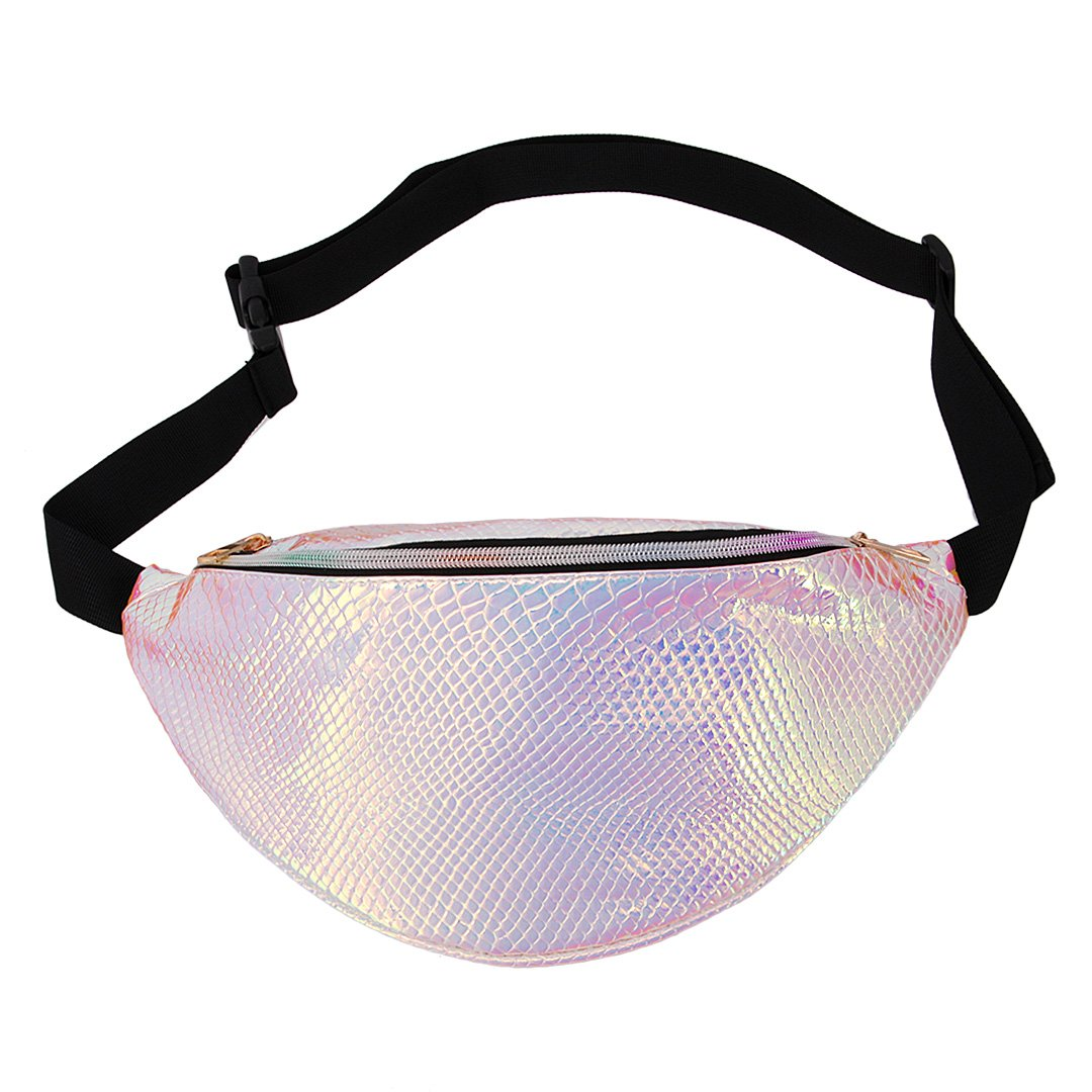 Naimo Waterproof Holographic Laser Fanny Pack Bum Bag Purse Waist Bag (Laser Purple) by Naimo (Image #2)
