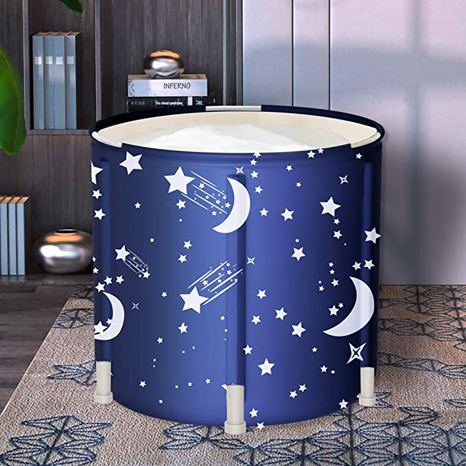 Free Standing Soaking Bathing Tub Family Bathroom SPA Tub With Backrest Pillow For Adults Kids VENTDOUCE Portable Folding Bathtub Ideal Family Sauna Keep Temperature For Hot Bath Ice Bath