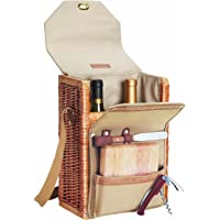 Picnic Time Corsica Insulated Wine Basket with Wine and Cheese Accessories