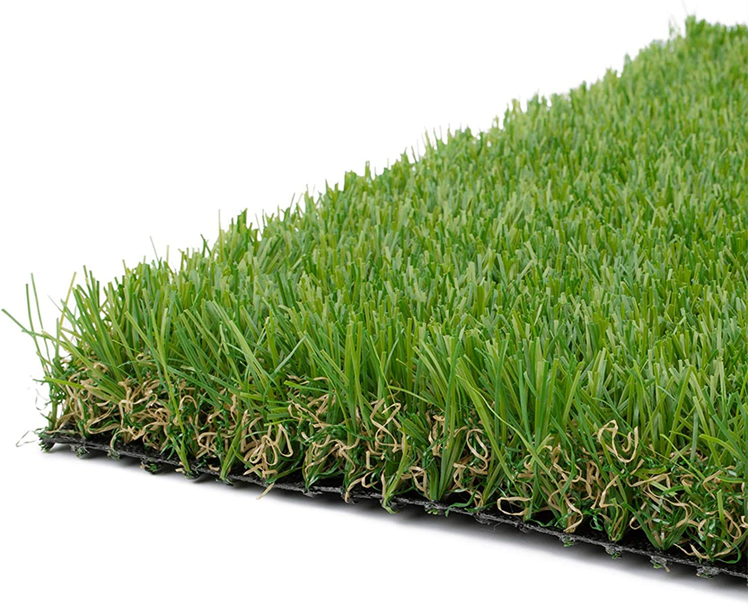 Realistic Thick Artificial Grass Turf -Indoor Outdoor Garden Lawn Landscape Synthetic Grass Mat - Thick Fake Grass Rug 3FTX8FT