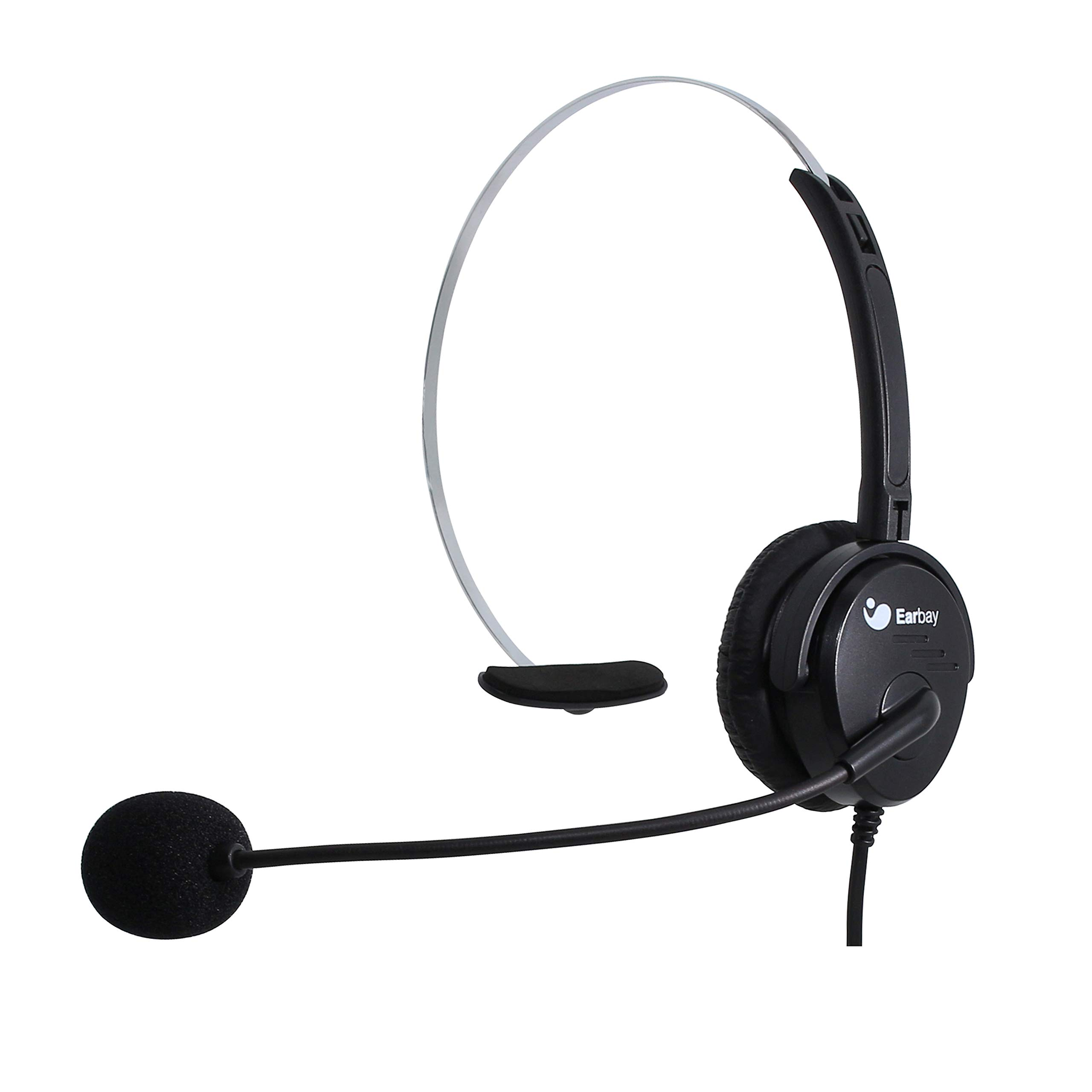 Earbay USB Headset with Noise Cancelling Microphone and Volume Control for Call Center