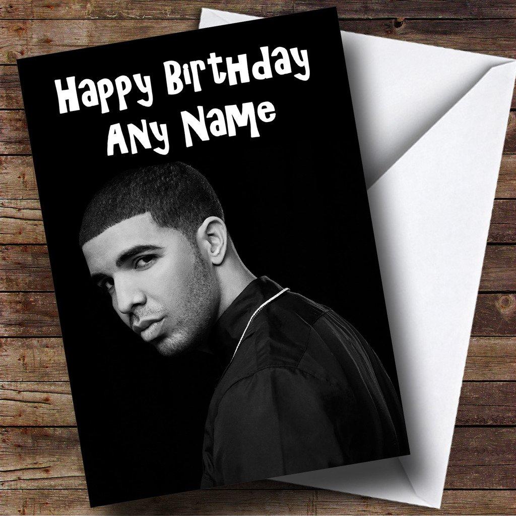 Personalised Black White Drake Birthday Card Amazoncouk – Drake Birthday Card