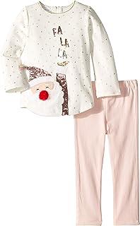 13f8df34cc6e Mud Pie Womens Christmas Santa Tunic and Leggings Two-Piece Playwear Set  (Infant)
