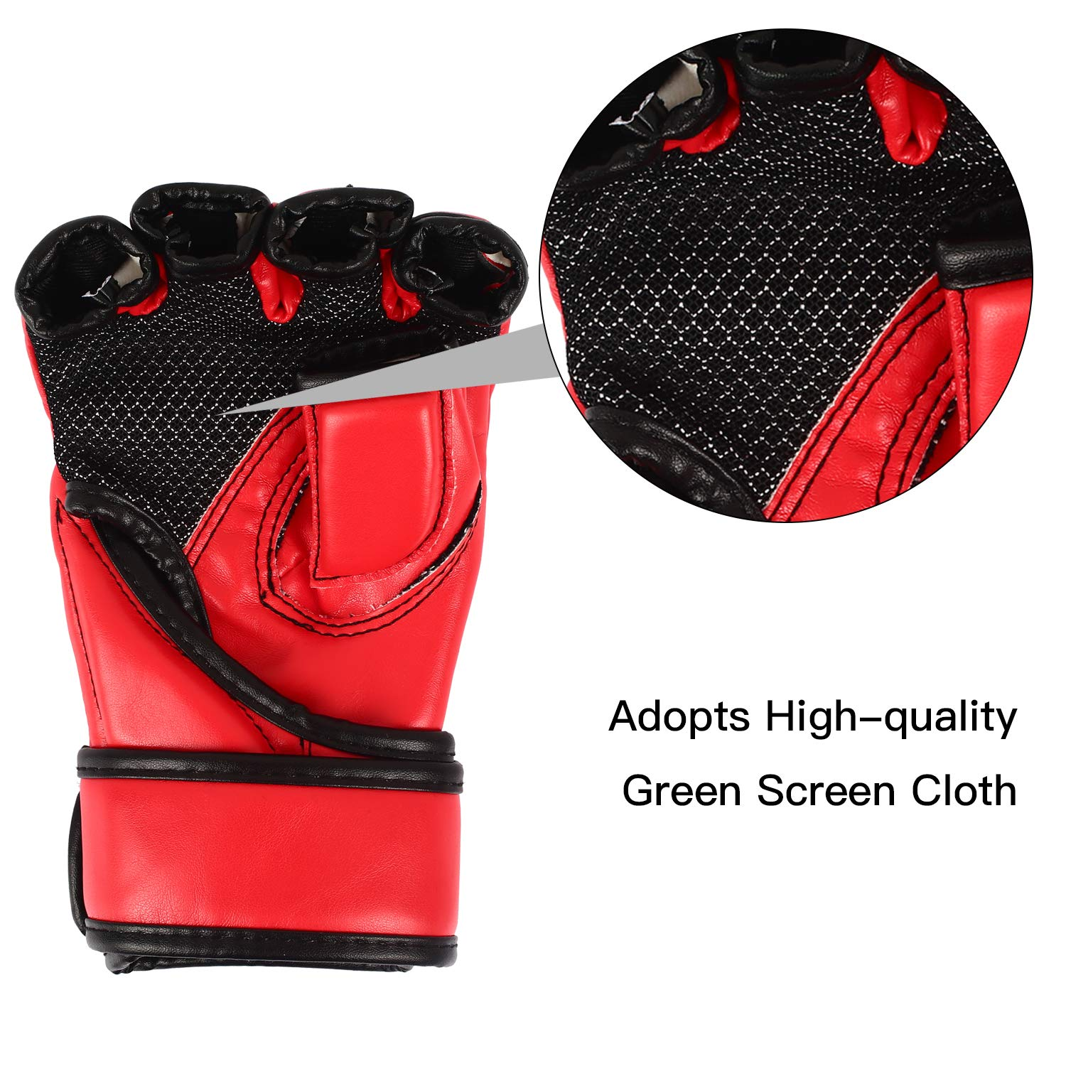 Sparring Brace Master Boxing Gloves MMA Gloves for UFC Training Men and Women Leather More Padding Punching Bag Gloves for The Kickboxing Muay Thai Heavy Bag