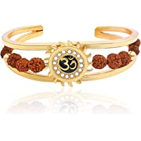 Charms Rudraksh Collection Gold Alloy Sun Bracelet For Men