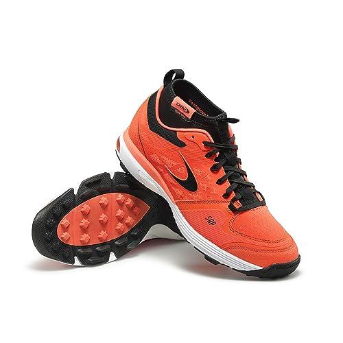 Dita Lght 700 High footglove Hockey Astro Shoe - Red/Black (UK 3.5)