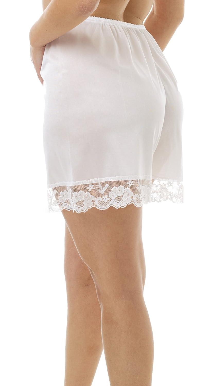 Underworks Pettipants Nylon Culotte Slip Bloomers Split Skirt 4-inch Inseam