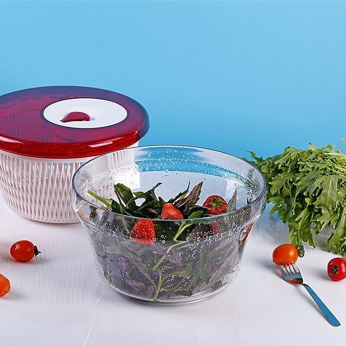 Deshidratadores Frutas y Verduras limpias Deshidratación Lavar Las Verduras Cesta de Drenaje Fregadero Giratorio Limpiador de Vegetales Resina de Alta ...