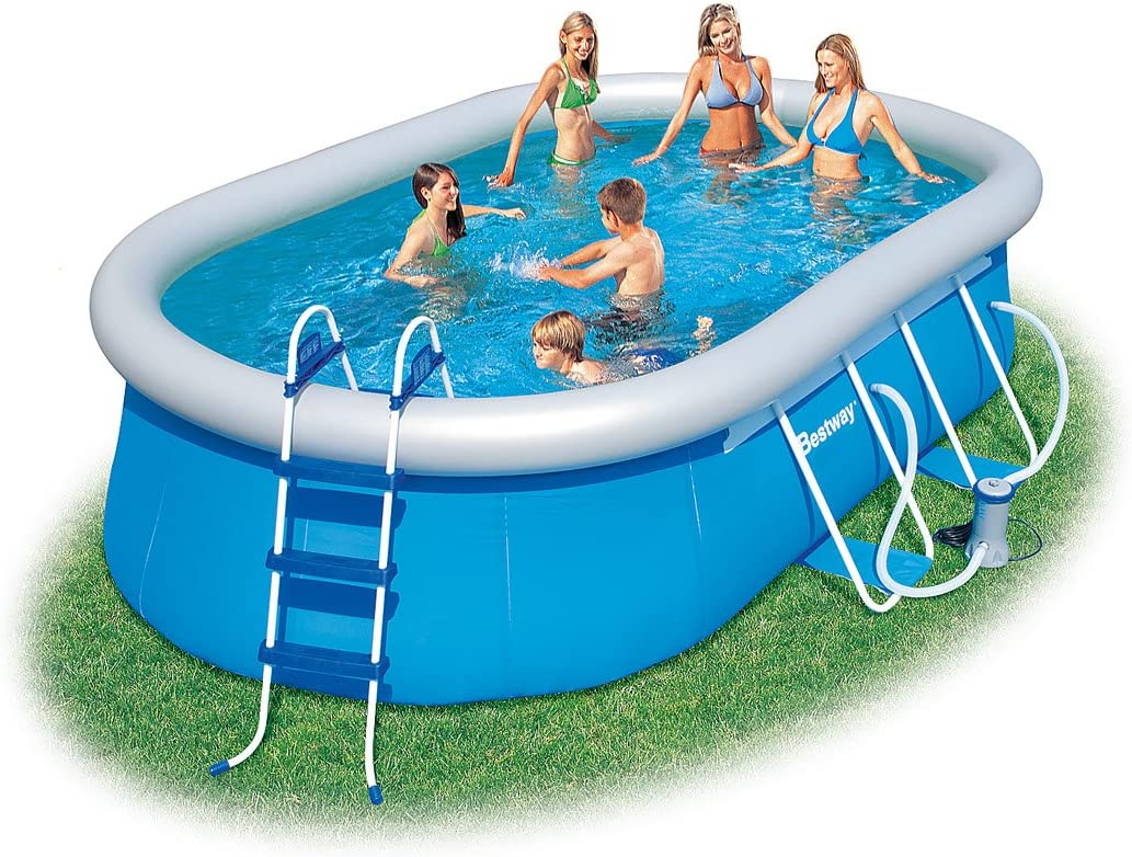 Bestway 16 Oval Fast Set Pool Set - Piscina Fast Set 488 X 305 X ...