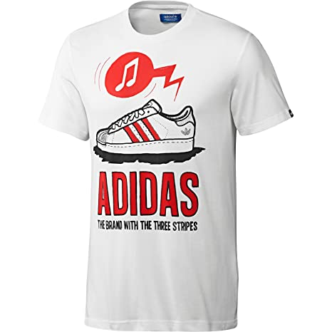Adidas Camiseta Hombre G Shell Cantando, Bianco, M