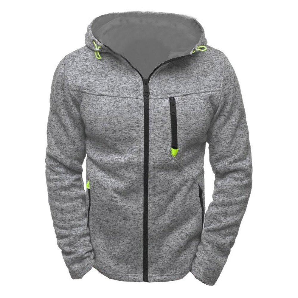 Brezeh Hoodie Sweatshirt Pullover For Men Zipper Sport Tops Coat Jacket