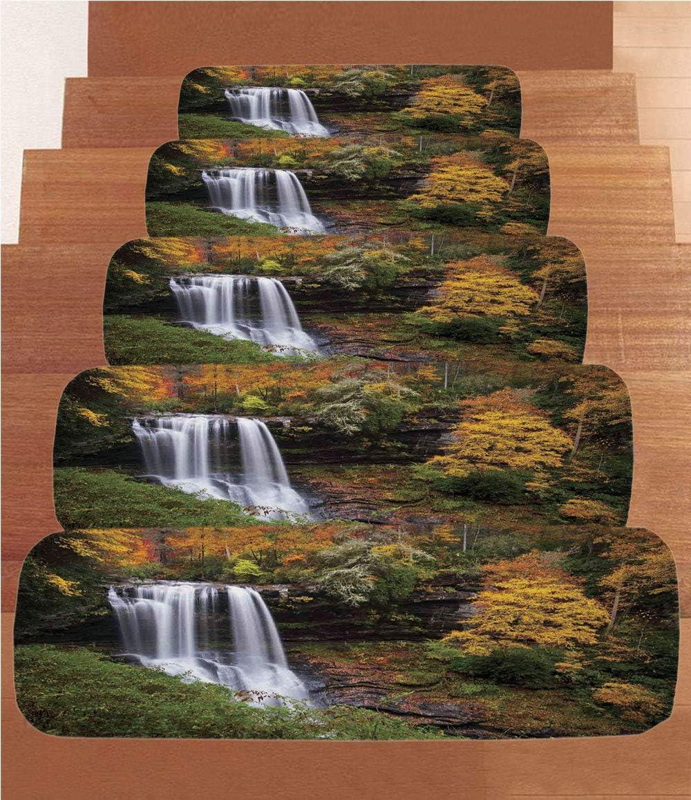 SoSung Tapetes de Forro Polar para Acuario, para escaleras, jaleas artísticas, natación bajo el mar, Coral Arrecife, Plantas oceánicas (Juego de 5) 8.6 x 27.5 Pulgadas, Color Azul, Rosa y Naranja: Amazon.es: