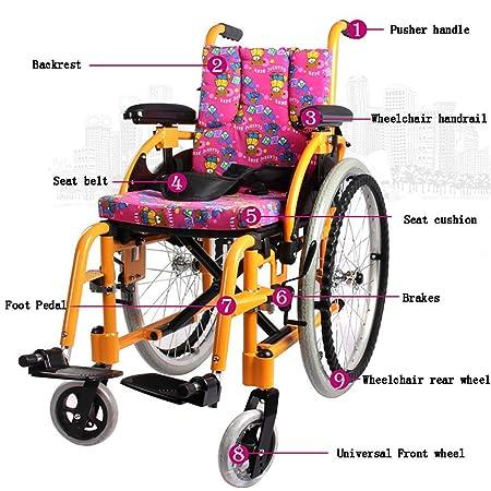 Amazon.com: HSRG silla de ruedas ligera y plegable con ...