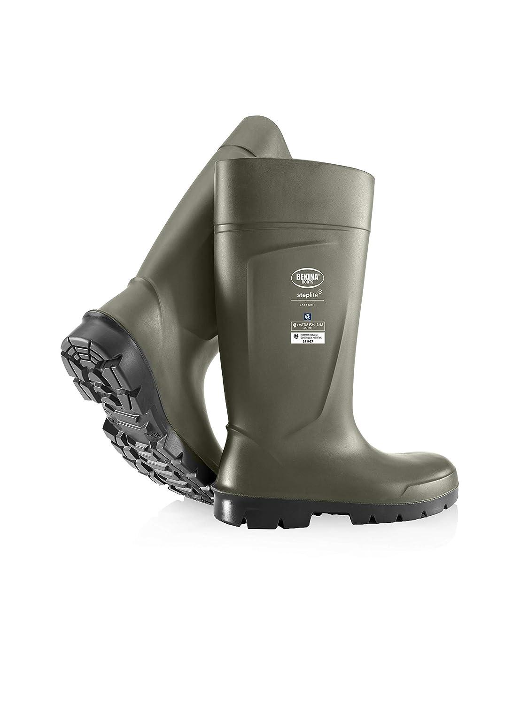 UltraSource 440116-11 Bekina Boots, Agrilite, Steel Toe, Size 11, Green/Black