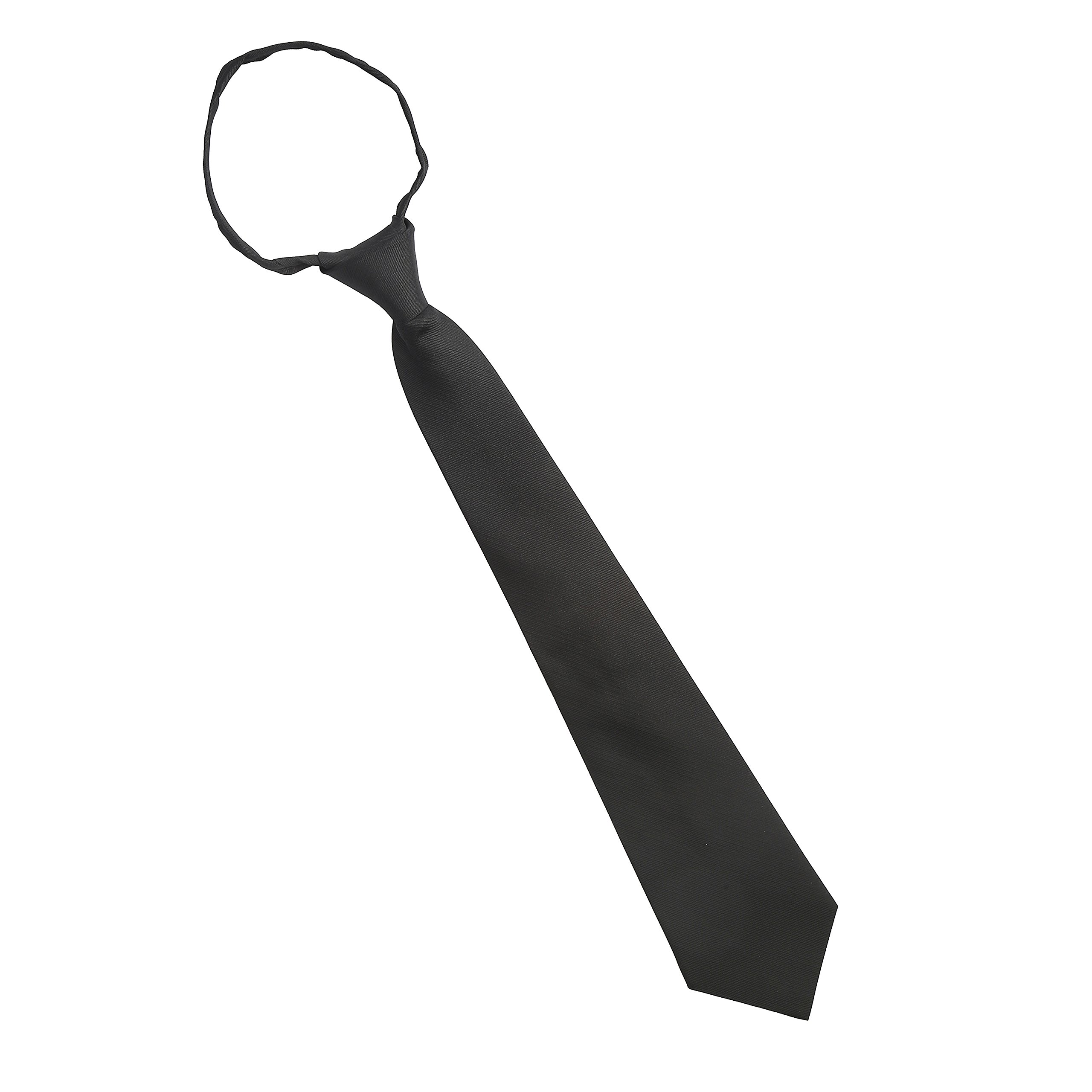A Cut Above Uniforms Pilot Zipper Tie (Short, Black)