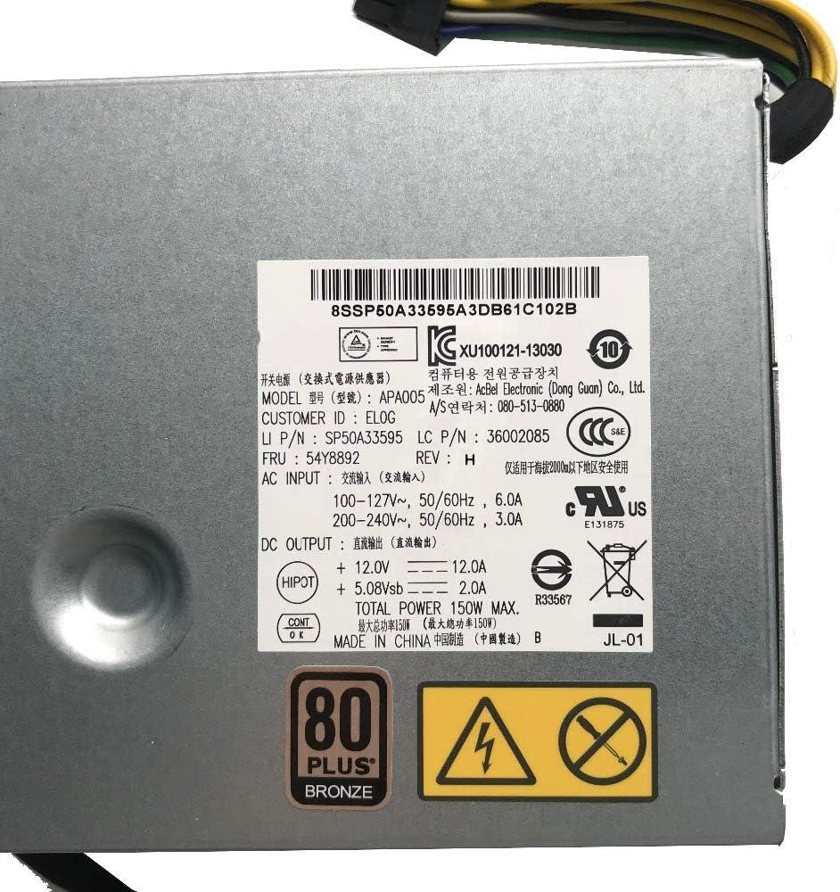 for Lenovo M71z M72z M73z M83z M93z Power Server Power Supply 54Y8892 APA005 150W 36002085 100/% Tested