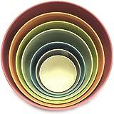 Bamboozle Nested Pastel Bamboo Mixing Bowls - Set of 7