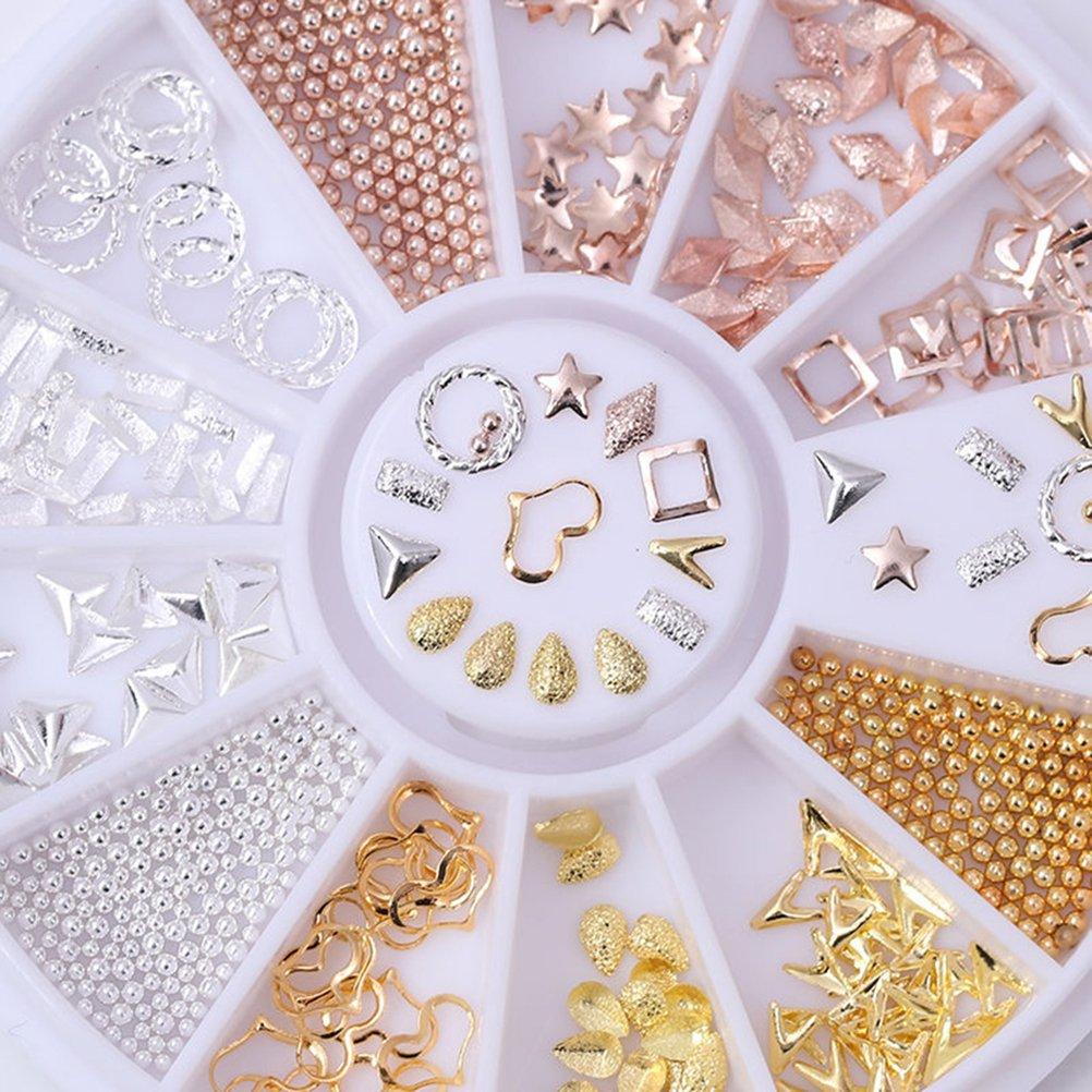 profusion Cercle 3d Nail Art Décoration Perle Strass Conseils DIY Manucure Roue Profusion Circle