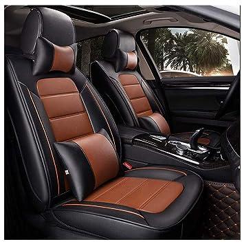 Amazon.es: Cubierta de asiento de coche, universal de cuero ...