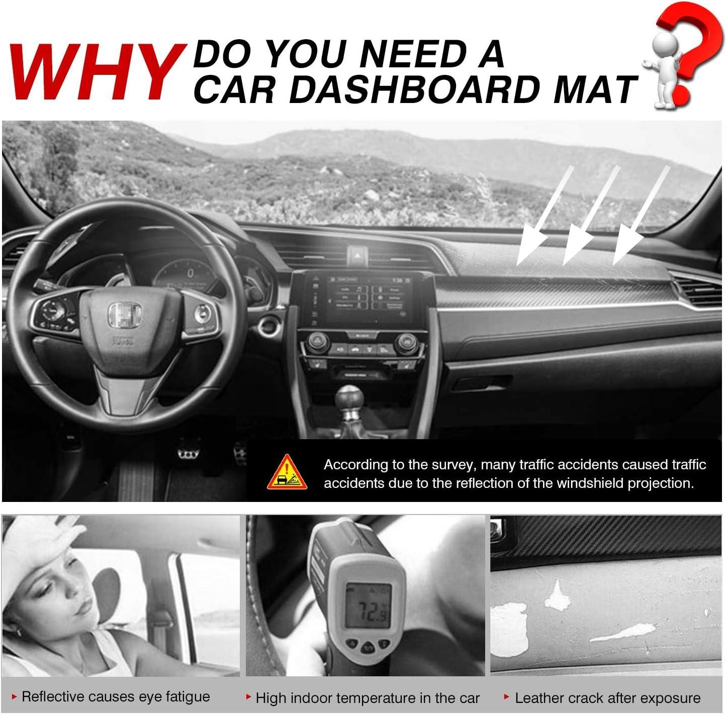 Cartist Civic Dashboard Mat Cover Dash Cover Nonslip Dashboard Mat ...