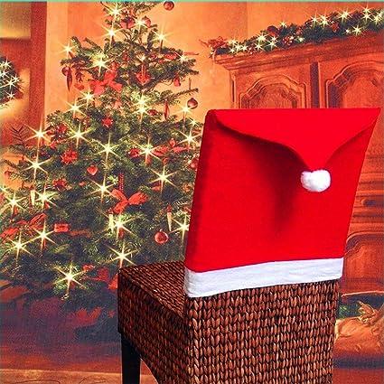 Christmas Chair Back Covers.Amazon Com Cloverhome Christmas Chair Back Cover Santa