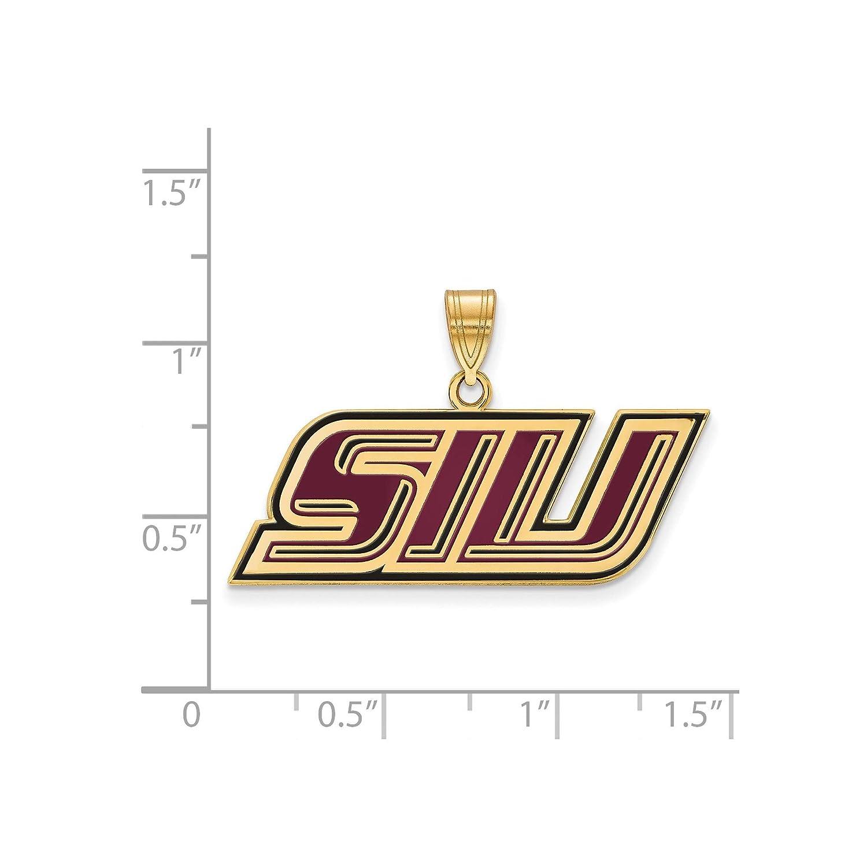Kira Riley Gold Plated Southern Illinois University Small Enamel Pendant