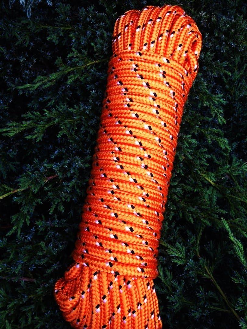 Nr.34 Orange Bootsleine 16 mm x 30 m,Tauziehen,Schleppseil,Schleppleine,Vielzweckseil,Bootsseil,Seil,Leine,Reepschnur,Reepseil,Schnur,Band,Tauwerk,Tau