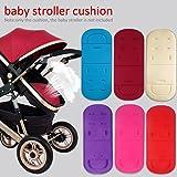 Alfombrilla de cojín para cochecito de bebé, universal, para cochecito de bebé rojo vino Talla:34 * 80 cm/13.39 * 31.50 inch