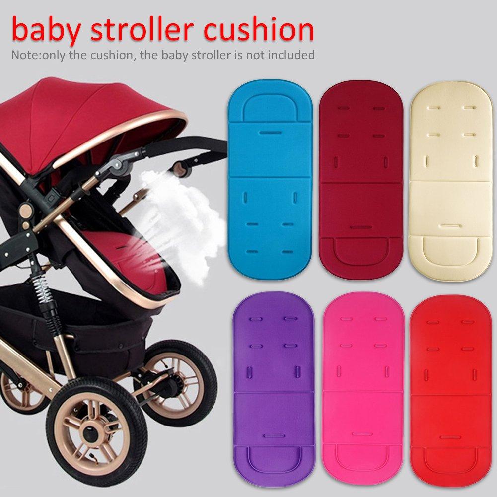 Pram/Stroller Liner Cushion Mat, Universal Pushchairs Parts Baby Stroller Mat Khaki PROKTH