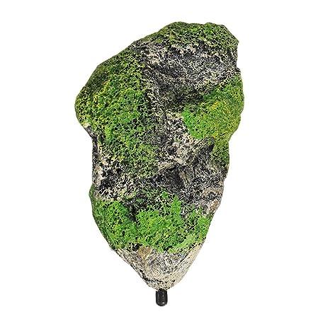 AOOPOO: decoración de Acuario para pecera, árbol de Pesca, Piedra Artificial Flotante suspendida