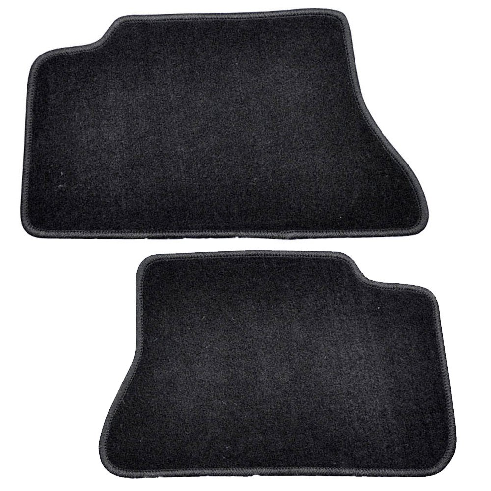 Floor Mats Fits 2000-2006 Chevy Suburban Tahoe 2000-2007 Chevy Silverado Nylon BlackFront Rear Carpet by IKON MOTORSPORTS 2001 2002 2003 2004 2005